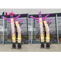 Quality Event Happy Inflatable Stick Man , Festive Air Tube Dancer LED Dancing Air Guy wholesale