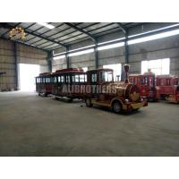 Quality Diesel 42 Seats Trackless Train Ride 20 Km / H Max Speed ISO Approved wholesale