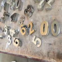 China laser cutting flat solid stainless steel gold color metal letters on sale