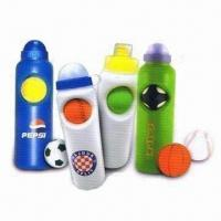 Quality Soccer Ball Water Bottles, Made of PE or PP, Suitable for Promotional Purposes wholesale