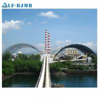 Buy cheap Prefabricated Large Span Steel Space Frame Structure Barrel Bulk Storage Roof from wholesalers