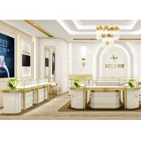 Quality Jewellery Showroom Furniture / Custom Display Cases Professional 3D Design wholesale