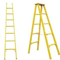 China Folding fiberglass a frame ladder corrosion resistant insulated herringbone ladder on sale