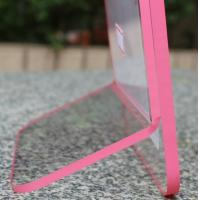 Cheap clear acrylic pink side paperweight photo frame for sale