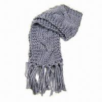Quality Ladies chunky knitted scarf for winter wholesale