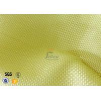 Cheap 1500D 305gsm Yellow Kevlar Aramid Fabric For Bulletproof Vest TDS Approval for sale