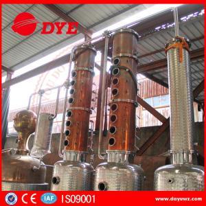 Quality 3000L Steam Copper Distillation Column For Whiskey Brandy Rum Gin wholesale