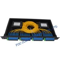 Cheap Pon / Lan Rack Mount Fiber Plc Splitter 1x2 , 1x4 , 1x8 , 1x16 , 1x32 , 1x64 for sale