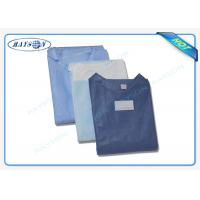 Quality 100% PP , SMS Non Woven Medical Fabric Sterile Disposable Surgical Gown Sauna Dress wholesale