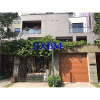 Quality Remote Control Aluminium Garage Doors Automatic Roll Up With wood color Finishing wholesale