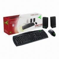 Quality 3-in-1 Computer Combo with Speaker, Keyboard and Mouse, USB and PS/2 are Available wholesale