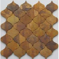 Quality Modern Small Bronze Metallic Mosaic Tiles For Interior Projects 8mm Thick wholesale