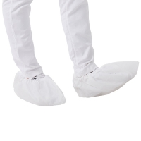 China Anti Slip 16x40cm Disposable Shoe Cover For Food Industry on sale