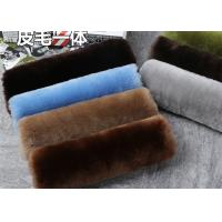 Quality Dyed 24 Colors 100% Sheepskin Seat Belt Cover Warm Keeping With Universal Size wholesale