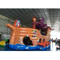 China Attractive Pirate Ship Slide Inflatable , Kindergarten Baby Games Blow Up Pirate Ship on sale