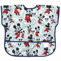 Quality Disney Mickey Mouse Junior Bibs , Short Sleeve Bib / Smock For 1-3 Years wholesale