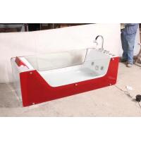 Quality Red Rectangle ABS Acrylic Air Bubble Bathtubs For Bathroom 87 x 182 X 72cm wholesale