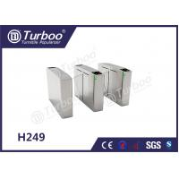Cheap Waist Height Flap Barrier Turnstile / Pedestrian Turnstile Gate Access Control for sale