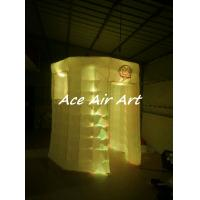 Cheap custom lighting circle booth tent white octagon inflatable photo booth for for sale