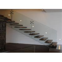 Quality Prima Building Floating Steps Staircase With Prefab Steel And Wood Construction Materials wholesale