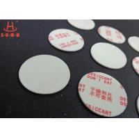 Quality Environmental Filmed Fiber Small Desiccant Packs 1.0mm Thickness , Circle Shaped wholesale