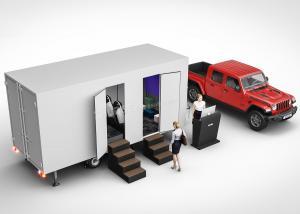 Quality Amusement Park Mobile 5D Cinema Truck With Electric Leather Motion Seats wholesale