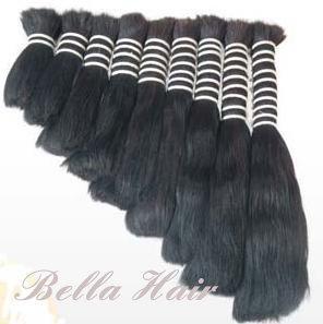 China Single Drawn Hair Bulk Human Hair Raw Virgin Hair on sale