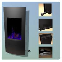 China Standing Curved Wall Mounted Electric Fireplace Heater Sliver Sand WF-1323 Multi color LED flame living room on sale