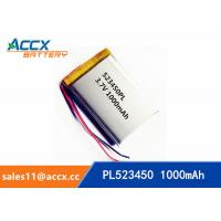 Quality 523450 pl523450 3.7v 1000mah lithium polymer rechargeable battery for mobile phone, printer wholesale
