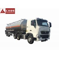 Quality T7H 2 Axle Aluminum Fuel Tank Semi Trailer With Intelligent Safety System wholesale
