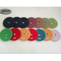 Quality 100mm Diamond Stone Polishing Pads / Wet Granite Polishing Pads wholesale
