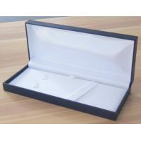 China Rectangular Classic Blue plastic pen Boxes packed in Leatherette paper on sale