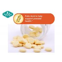 Quality B9 Vitamin B Supplements Folic Acid 400mcg Tablets For Prenatal Support wholesale