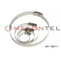 Quality Durable FTTH Accessories , Worm Drive Hose Clamps Stainless Steel 12mm Width wholesale