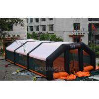 Quality 210D PVC Coated Nylon Inflatable Paintball Tent / Paintball Arena With Air Blowers wholesale