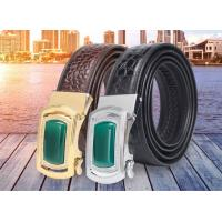 China New alligator leather fashion casual belt alloy automatic buckle crocodile men's belts on sale