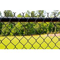 China Commercial Black PVC Coated Chain Link Fence Fabric For School Sports Fence on sale