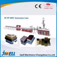 China Jwell plastic wood two step profile extrusion line wood plastic composite production line on sale