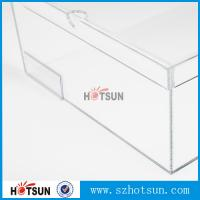 Cheap Customized color and logo printed acrylic shoe box, Factory Custom Made Clear Storage Shoe Box for sale