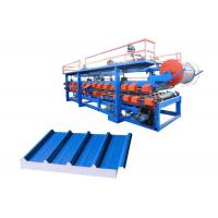 China Power 32 Kw Steel Pu Sandwich Panel Machine , Pu Sandwich Panel Production Line on sale