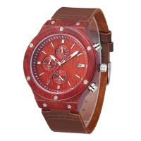 Quality Simple design dial wooden watch case wooden watches for men wholesale