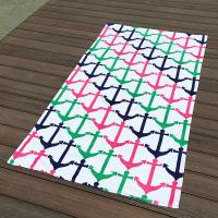 Quality Colorful Anchor Beach Towel / Printed Beach Towels Excellent Water Absoption wholesale
