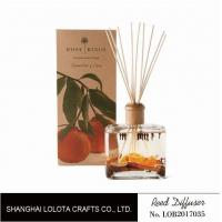 Quality Wooden Top Lid Wooden Reed Diffuser Reed Diffuser With Dry Fruit And Flower And Folding Box wholesale
