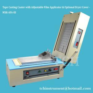 Quality Compact Tape Casting Coater w/ Vacuum Chuck, Film Applicator & Optional Heater up to 120ºC - MSK-AFA-III wholesale