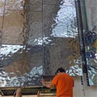 Quality 304 316 quality NO.8 mirror stainless steel sheet hammered embossed pattern for interior decoration wholesale