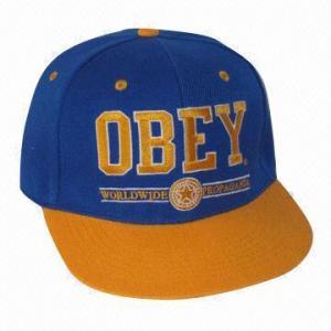 Quality Flat Peak Hip-hop/Snap Back Cap, Suitable for Sports wholesale