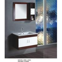 Quality Soft closing door wall mounted bathroom sink cabinets , customized Dimenstions bathroom furniture vanities wholesale