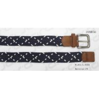 Buy cheap Navy & White Stretch Belts For Jeans , Mens Elastic Stretch Belts from wholesalers