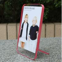 Quality clear acrylic pink side paperweight photo frame wholesale
