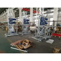Quality Double and Single 200m Mast Climbing Work Platforms For Hotel Cleaning, High Security wholesale